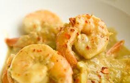 Recette de crevettes au lait de coco, poivron et gingembre