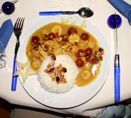 Recette emincé de volaille au curry tutti frutti