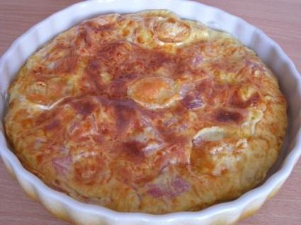 Quiche sans pâte au jambon et au fromage