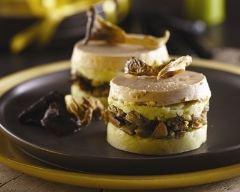 Recette parmentier forestier au foie gras et aux truffes