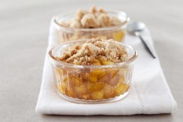 Recette de crumble pommes/poires, caramel aux épices de vin ...