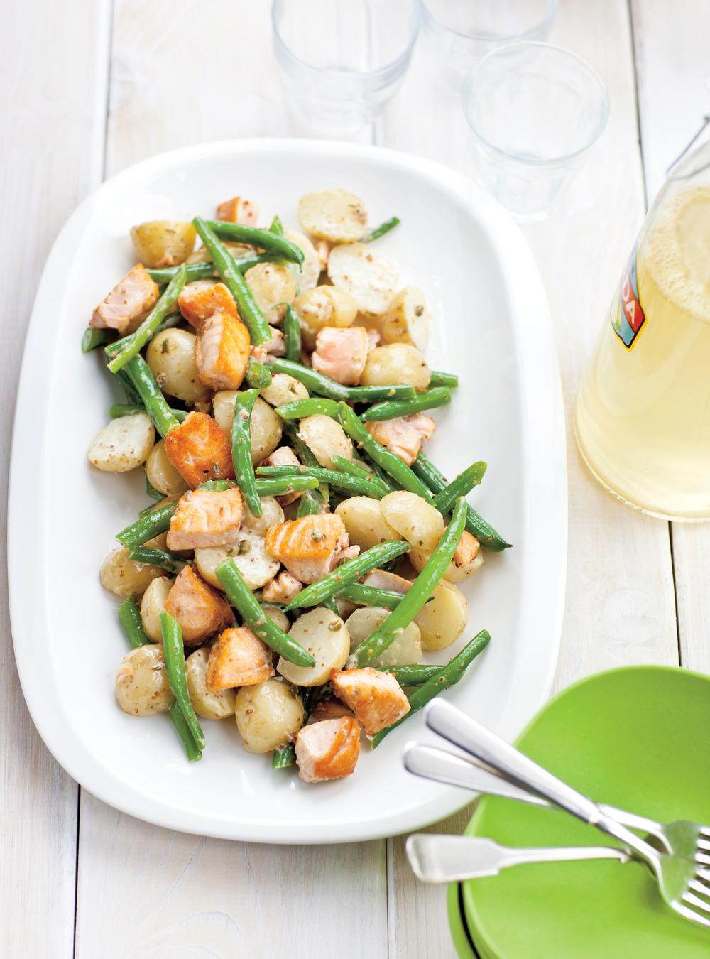 Salade de pommes de terre et de saumon | ricardo