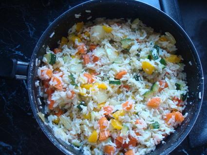 Recette de riz aux légumes