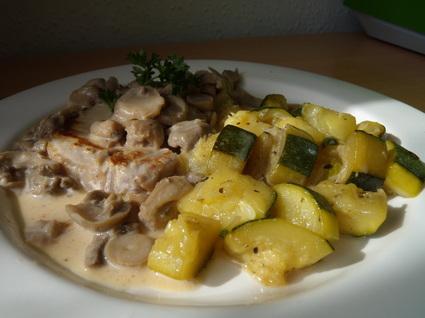 Recette de côte de porc à la crème et aux champignons