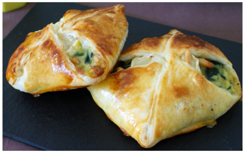 Recette feuilletés épinards/chèvre pas chère et simple > cuisine ...