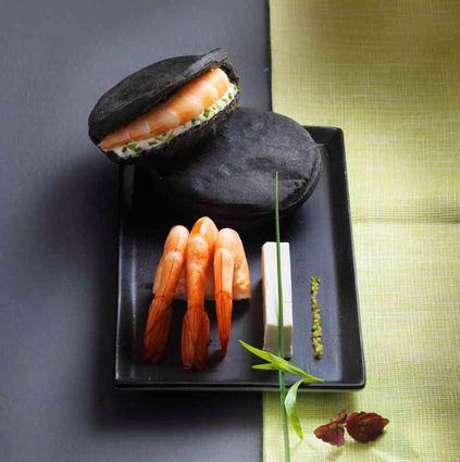 Recette de galets noirs au st môret, crevettes aux zestes d'agrumes ...