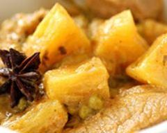 Recette curry de veau à l'ananas et au citron vert