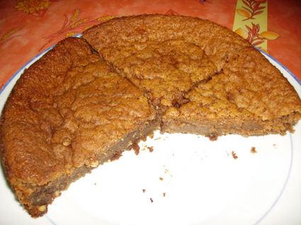 Recette de choco fondant aux deux chocolats et aux cacahuètes