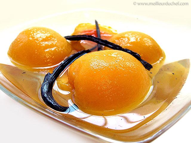 Pêches au sirop  la recette illustrée  dessert léger ...