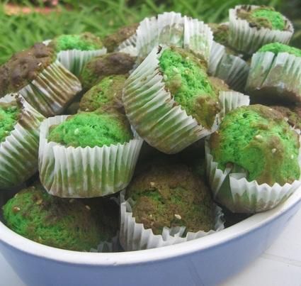 Recette de mini-muffins pandan sésame