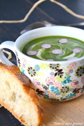 Recette velouté de fanes de radis (potage, soupe)