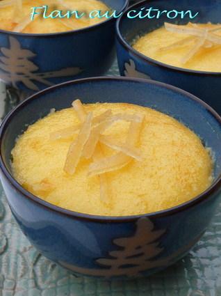 Recette de flan au citron