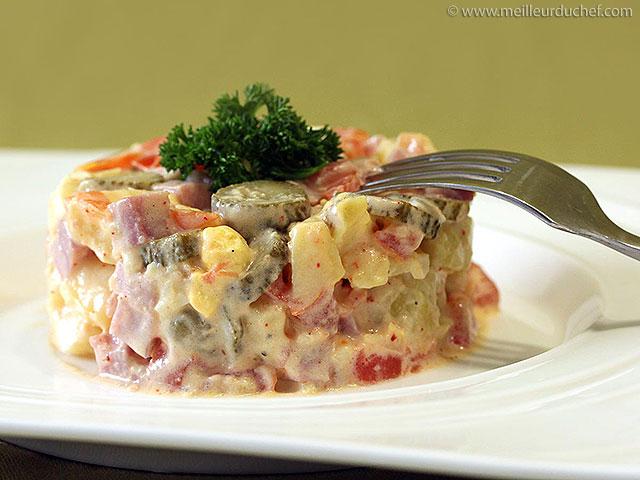 Salade piémontaise  fiche recette avec photos  meilleurduchef.com