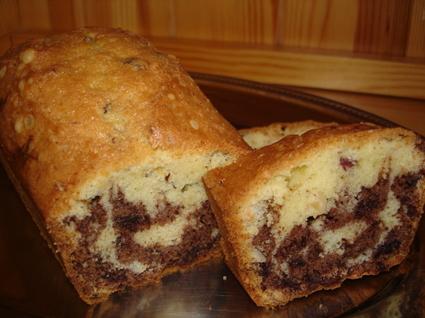 Recette de cake chocolat-noisettes