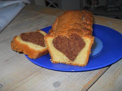 Recette de gâteau au yaourt au chocolat coeur caché