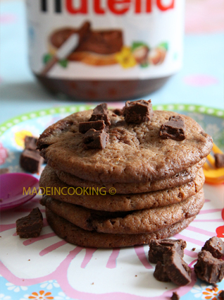 Recette de cookies au nutella® et aux pépites de nutella®
