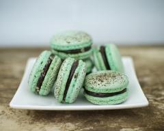 Recette macarons menthe chocolat