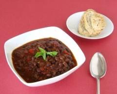 Recette soupe cubaine aux haricots noirs pauvre en sel
