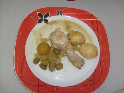 Recette de tajine de poulet aux citrons et aux olives