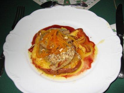 Recette de pain perdu de foie gras à l'orange