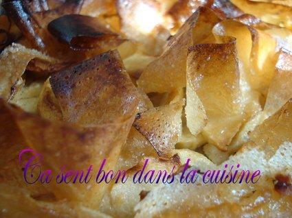 Recette de croustade aux pommes, noisettes et eau-de-vie