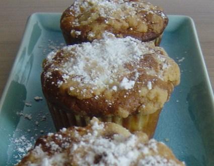 Recette de muffins au crumble de pommes
