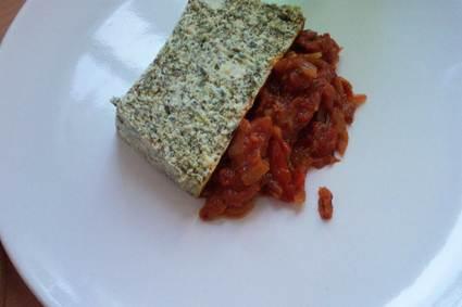 Recette de terrine brousse épinards et son concassé de tomates ...