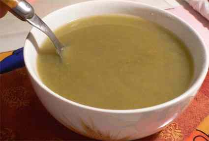 Recette de velouté de haricots verts au parmesan