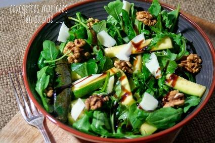 Recette de courgettes marinées en salade