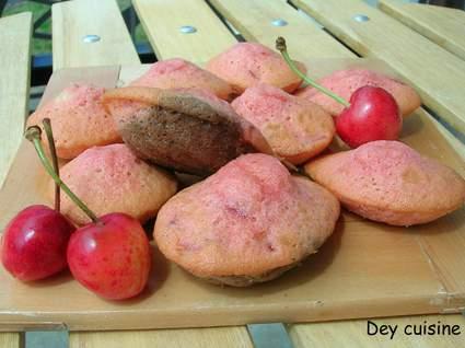 Recette de madeleines aux cerises
