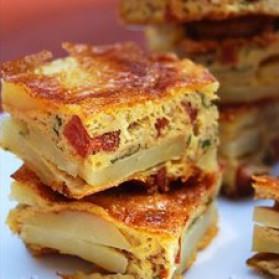 Tortilla pommes de terre-chorizo pour 1 personne