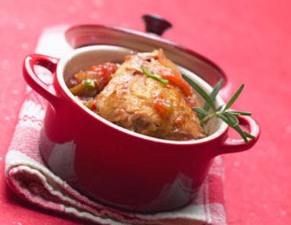 Recette de cocotte de poulet basquaise au piment d'espelette
