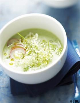 Soupe froide concombre et radis pour 6 personnes