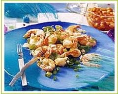 Recette crevettes au citron vert et à la coriandre