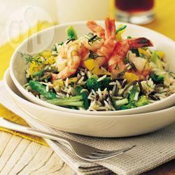 Recette crevettes à l'aneth en salade – toutes les recettes allrecipes