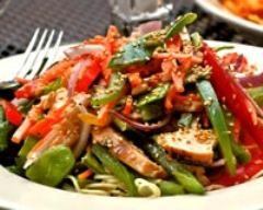 Recette salade de poulet aux petits légumes