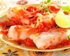 Recette poisson à la sauce tomate épicée