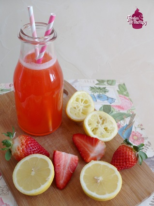 Recette de limonade maison à la fraise