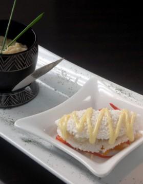 Brandade de tucunaré* au lait de coco et crêpe dentelle de tapioca ...