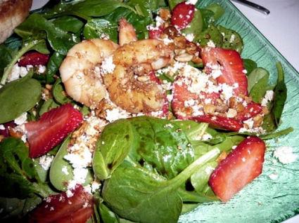 Recette de salade épinards fraises