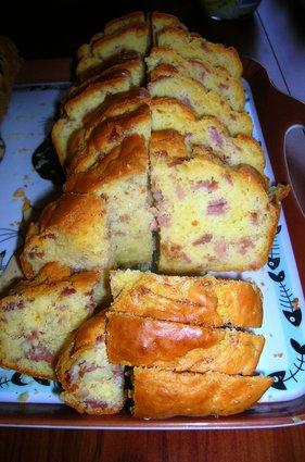 Recette de cake au jambon et lardons