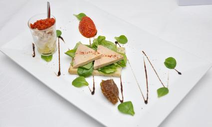 Recette de tartine de foie gras et sa verrine du sud-ouest