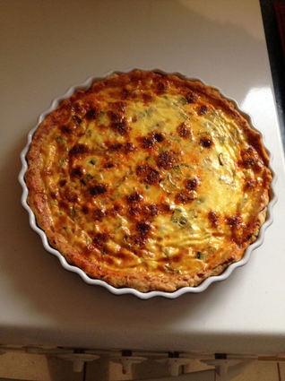Recette de tarte moelleuse aux courgettes et au chorizo