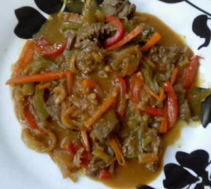 Recette de boeuf à la sauce satay