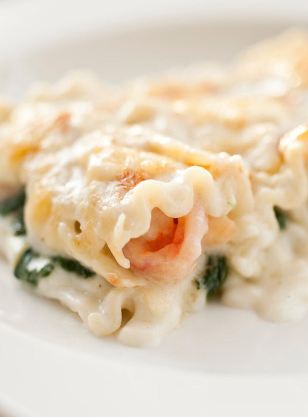 Lasagne aux crevettes et aux épinards | ricardo