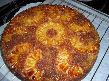 Recette de gateau à l'ananas et noix de coco caramélisé