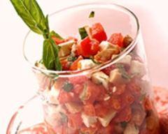 Recette verrine de tartare de tomates et de chèvre