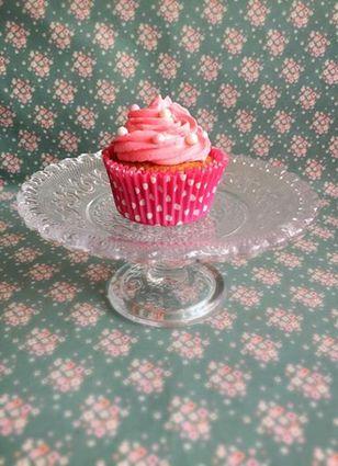 Recette de cupcake vanille-rose