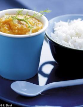 Carottes, fenouil, orange, cumin avec riz basmati (dès 9 mois) pour ...