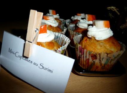 Recette de minis-cupcakes au surimi